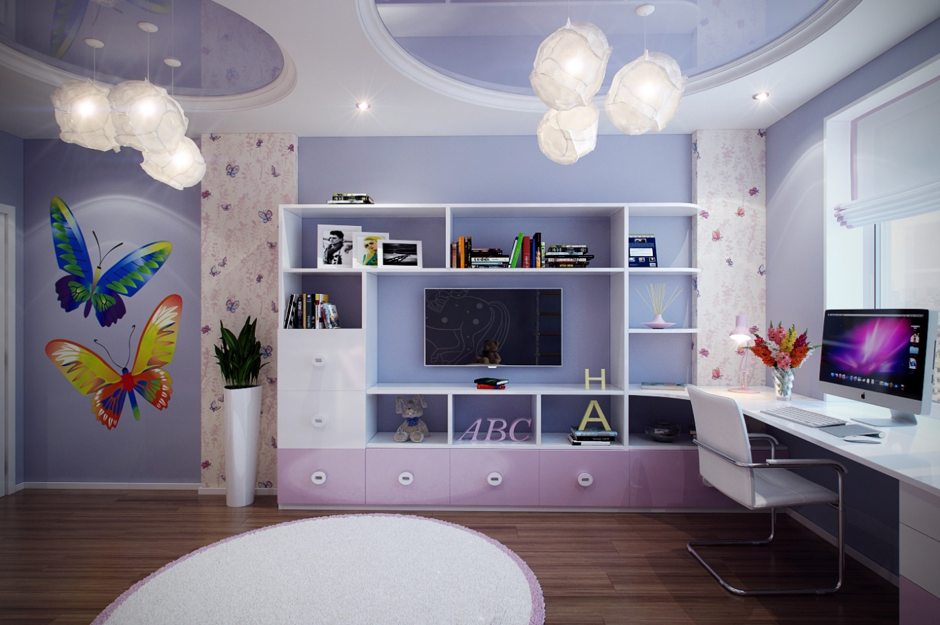 Casting color over kids rooms - Purple room for girls ...