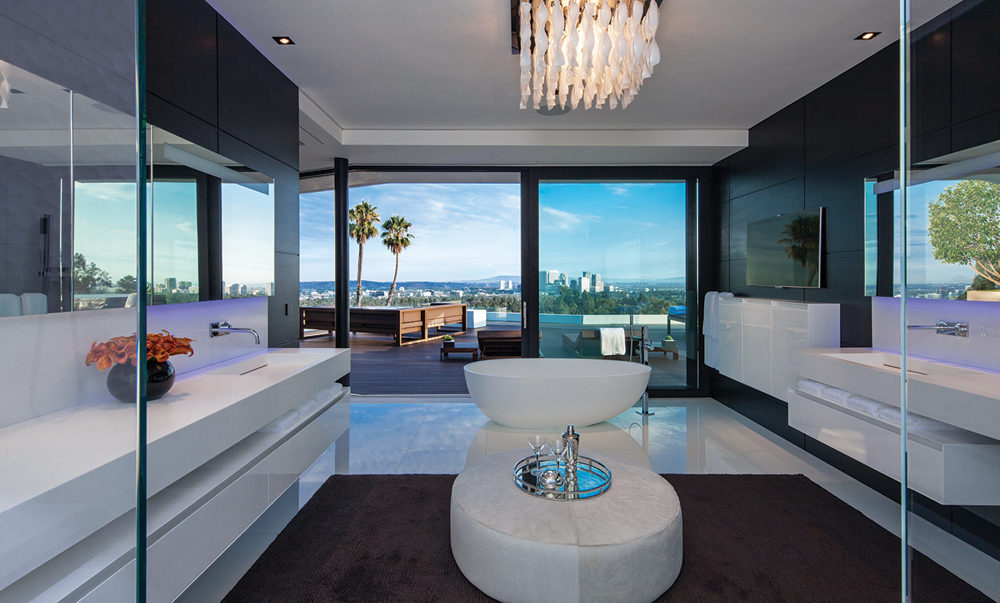 White Bathroom Suite - A spectacular beverly hills house