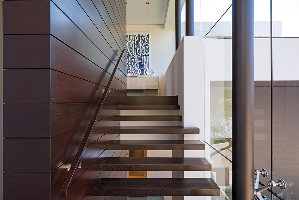 Wooden Stair Well - A spectacular beverly hills house
