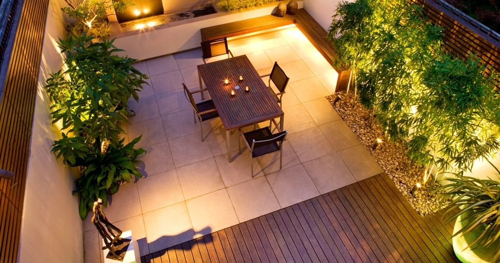 Roof gardens for Terrace lighting