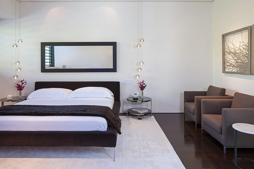Fabric Platform Bed - A spectacular beverly hills house