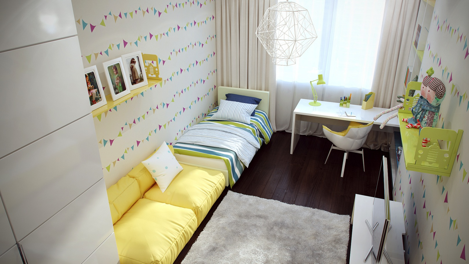 Casting color over kids rooms for Amenagement chambre petite
