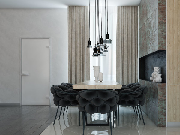 Smooth modern home designs by vitaly yurov - Plush dining room chairs ...