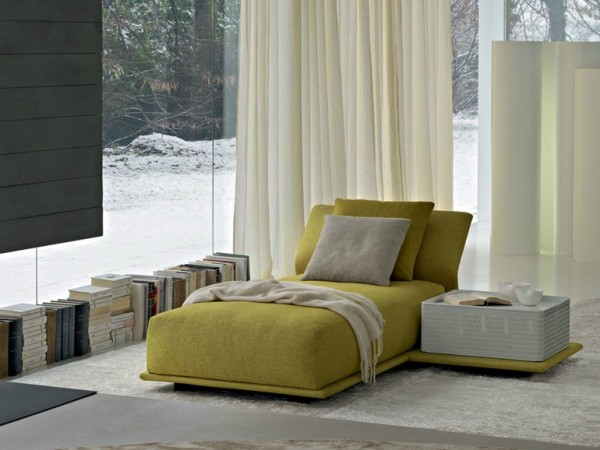 Contrasting, stand-out items of furniture almost demand their own zone, perfect for creating stand-alone reading areas.