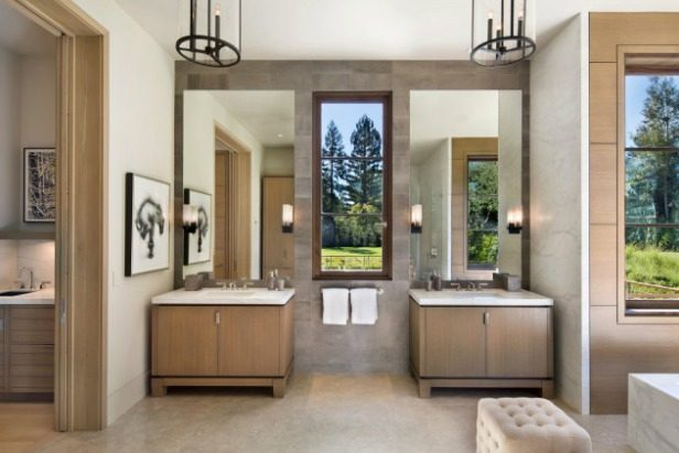 Twin Wash Basins - Microsoft co founder and billionaire paul allen s new 27m home