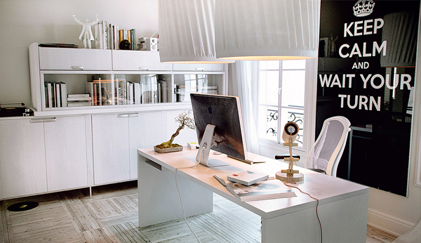 Beautiful home offices workspaces for Chic office ideas