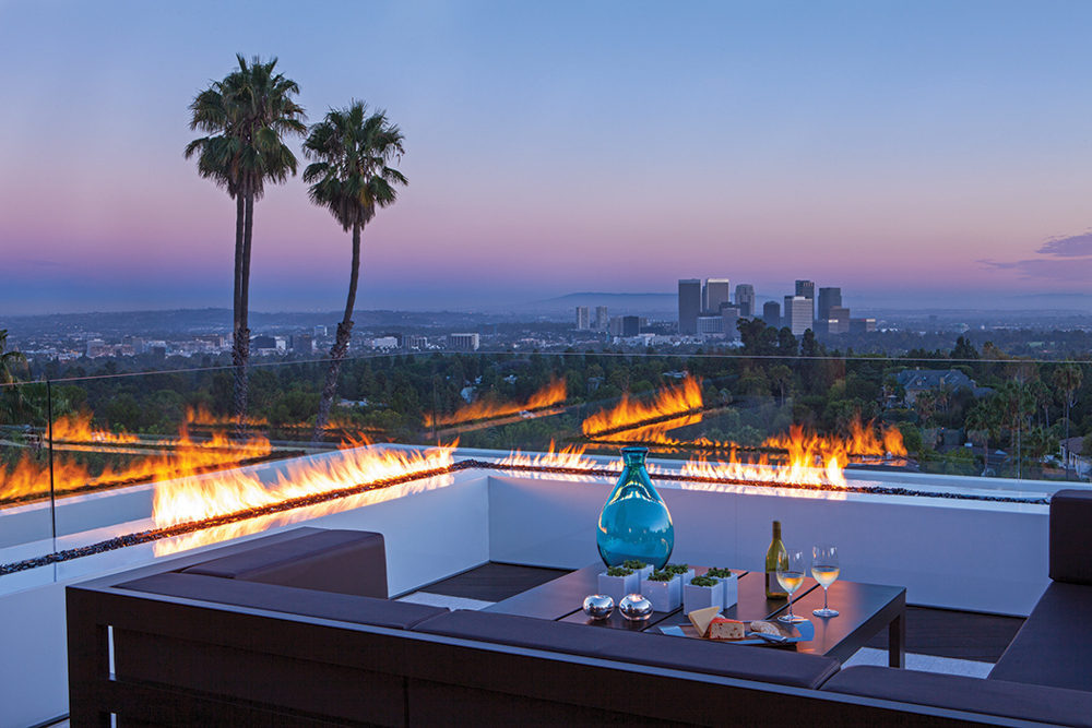 Inline Fire Pits - A spectacular beverly hills house