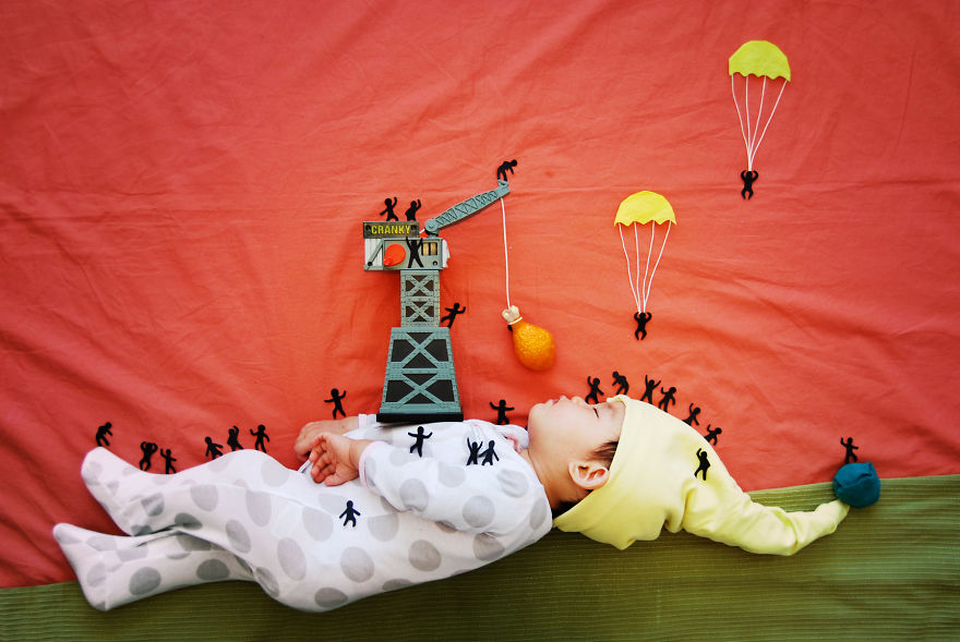 Adorable Sleeping Baby Dreamscapes