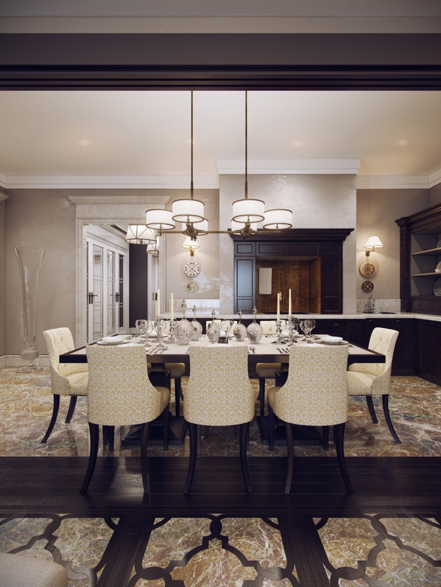 huge elegant dining room | Interior Design Ideas.