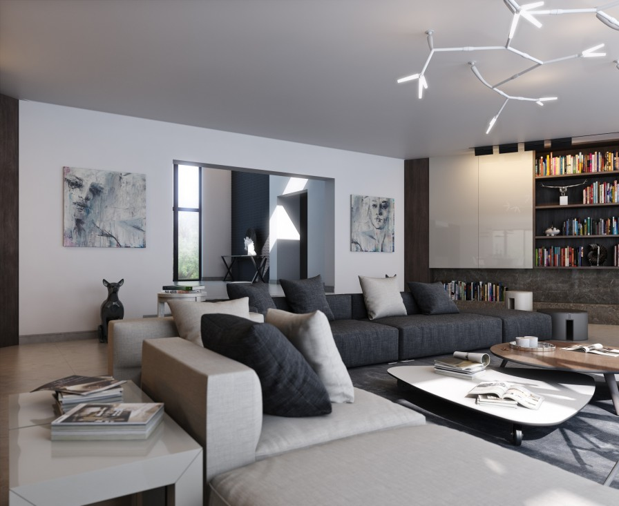 Calming modern interiors for Interior decoration house design pictures