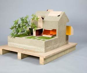 sustainable concrete dollhouse