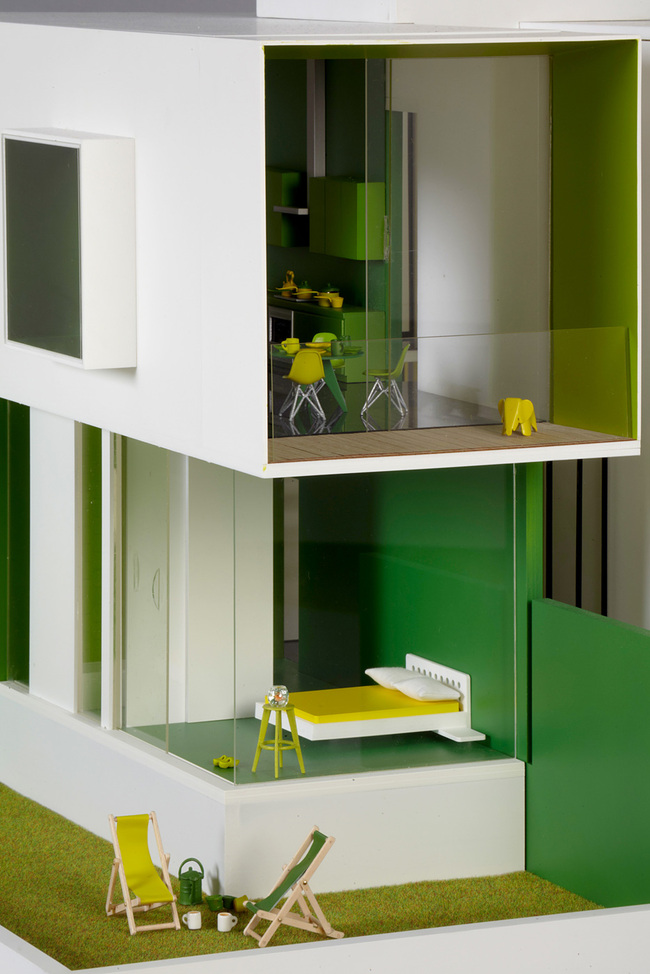 Vibrant Green Dollhouse - Dollhouses designed by star architects