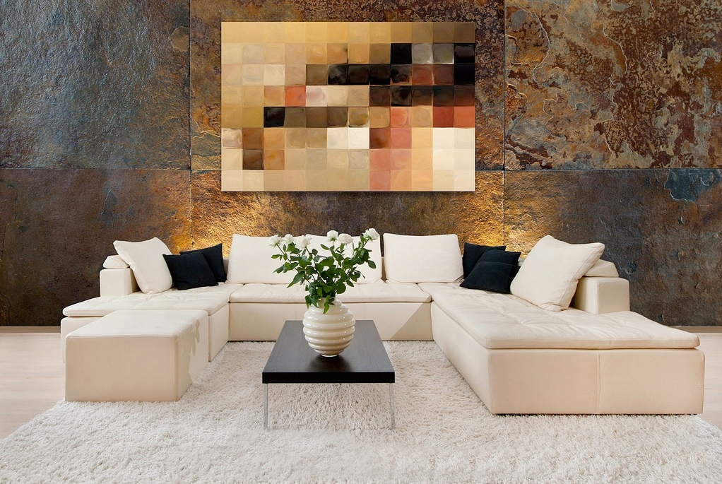 Home Decorated home decorating with modern art