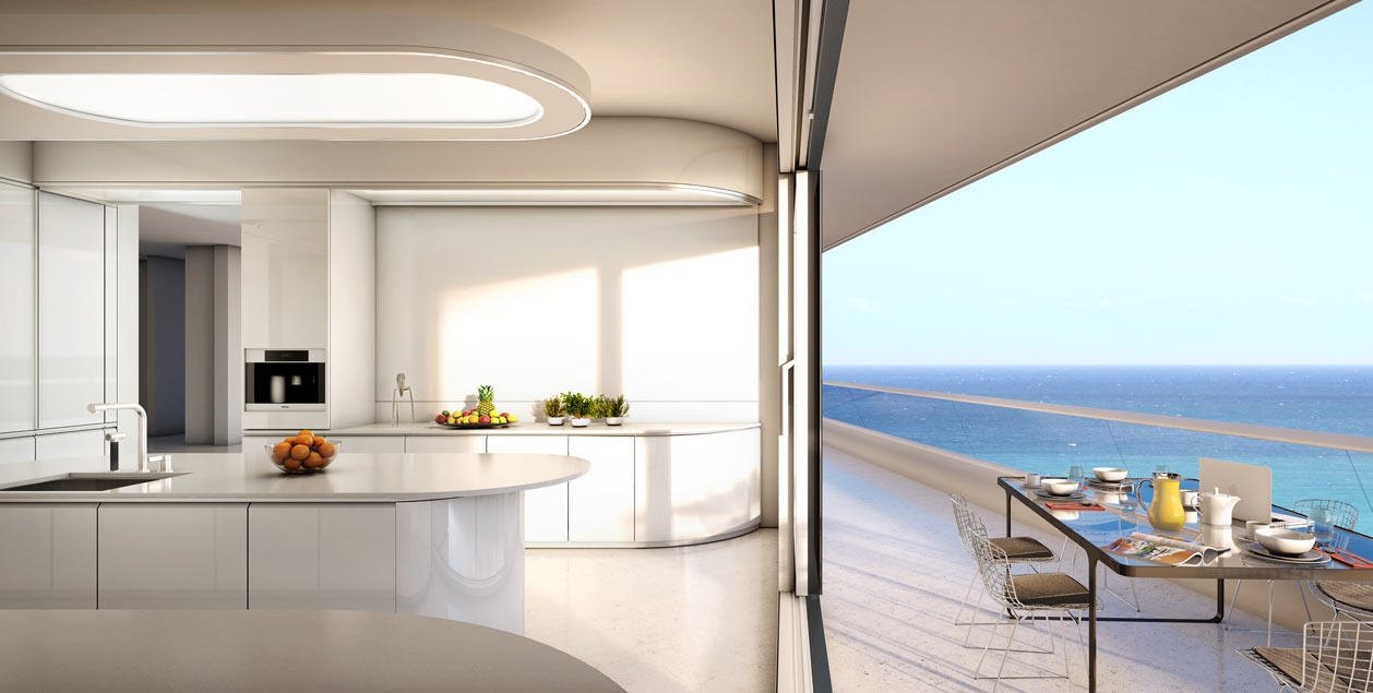Faena house miami beachside penthouse with layers of luxury Kitchen design center virginia beach