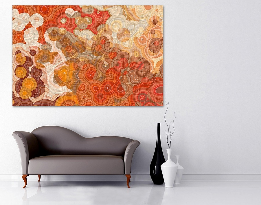 Superieur Pictures Gallery Of Orange Wall Decor. Inspirational