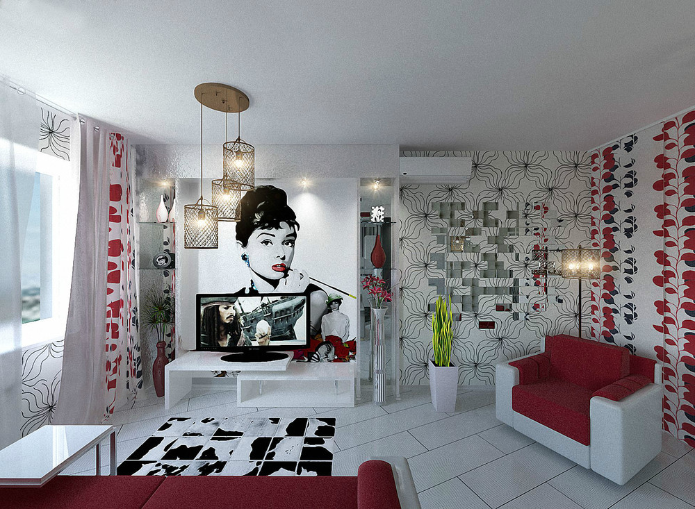Red White Black Decor Interior Design Ideas