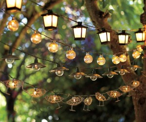 Try strings of different shaped lights for a fun arrangement.