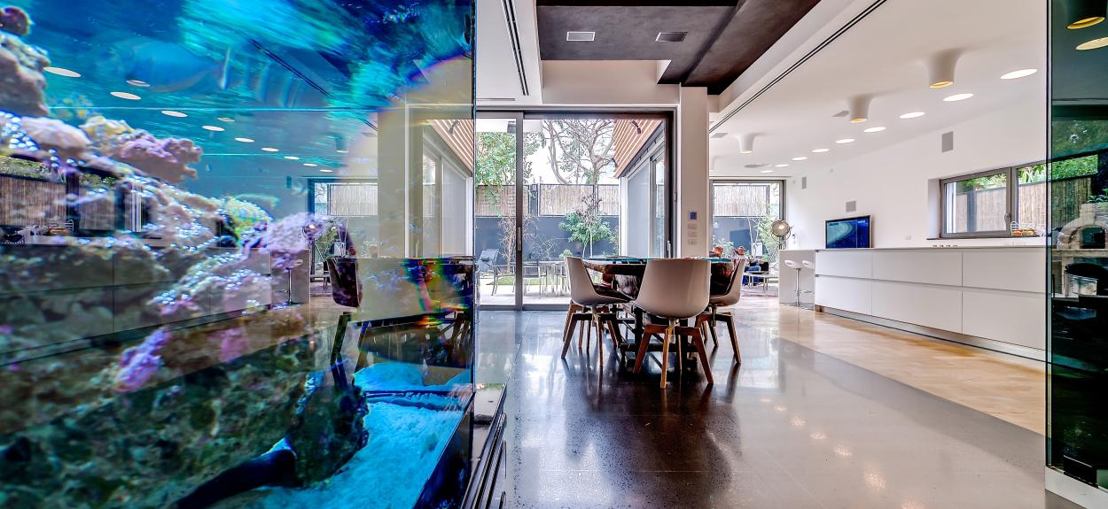 Home aquarium interior design ideas for Aquarium interior designs pictures
