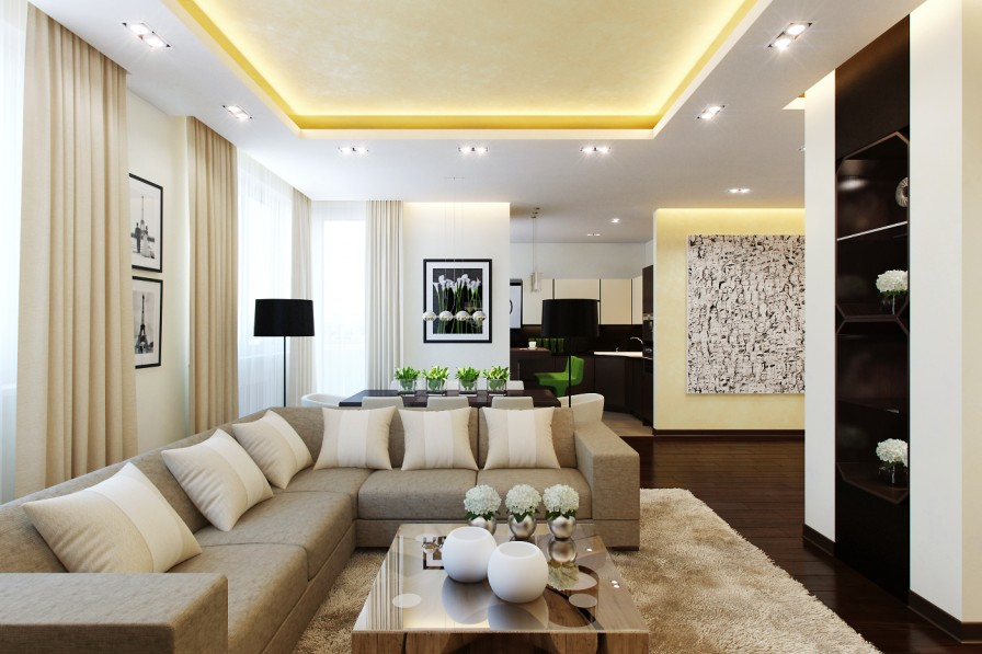 Cream Cushions - Open plan layouts for modern homes
