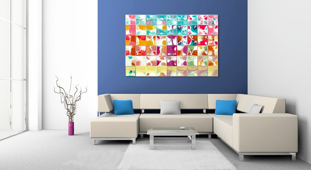 Home decorating with modern art for Modern artwork for home
