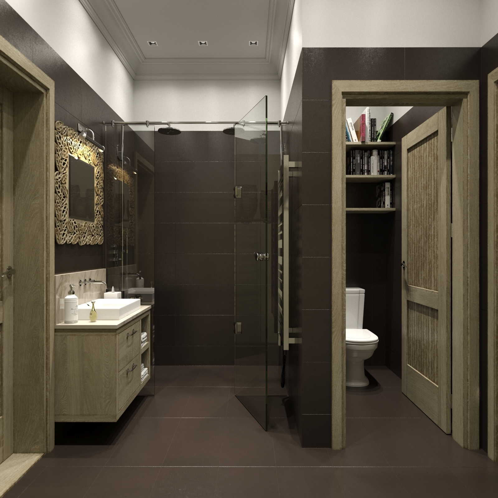 Separate wc interior design ideas for Toilet room decor