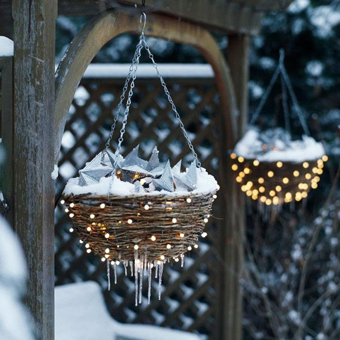 Christmas Hanging Baskets - Outdoor christmas decoration