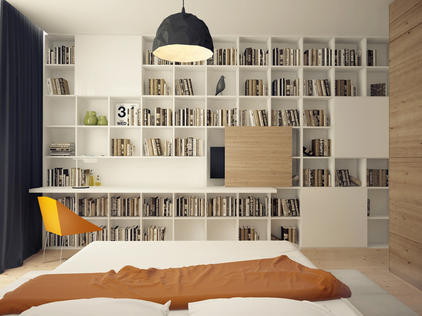 Built in bookshelves | Interior Design Ideas.