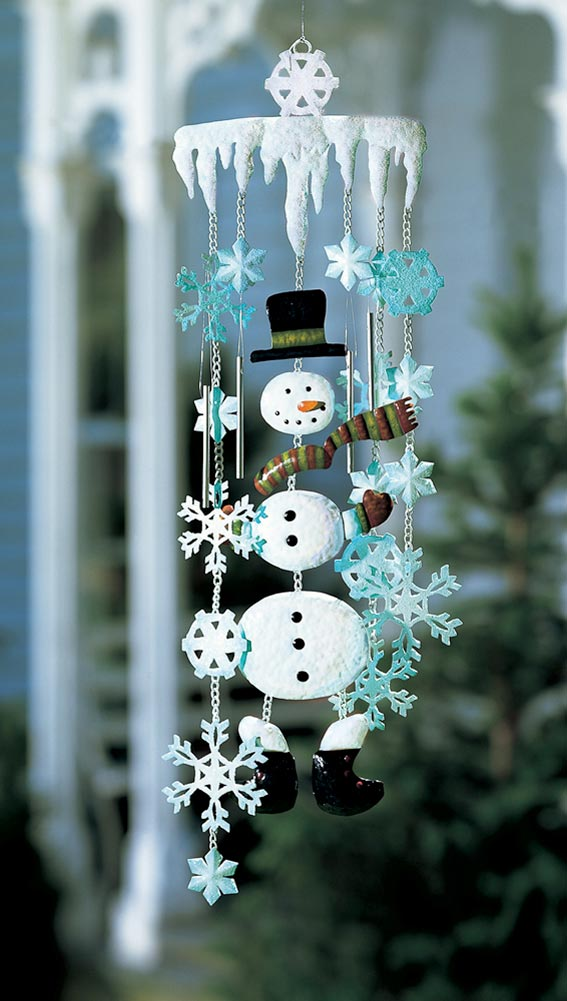 Snowman Mobile - Outdoor christmas decoration