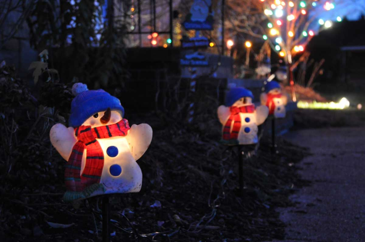 Outdoor christmas decoration for Decoration de jardin