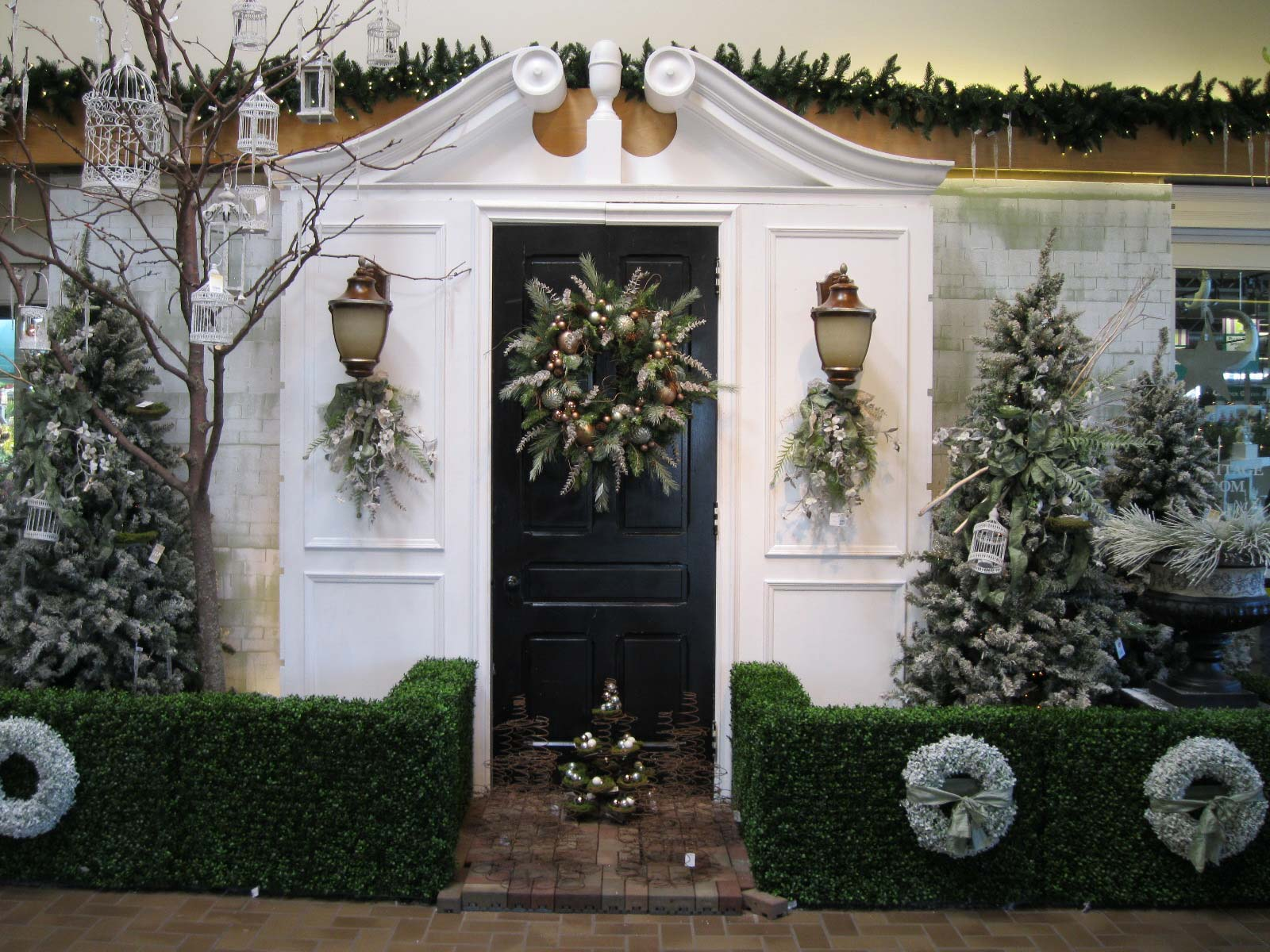 outdoor christmas decoration - Modern Christmas Front Door Decorations