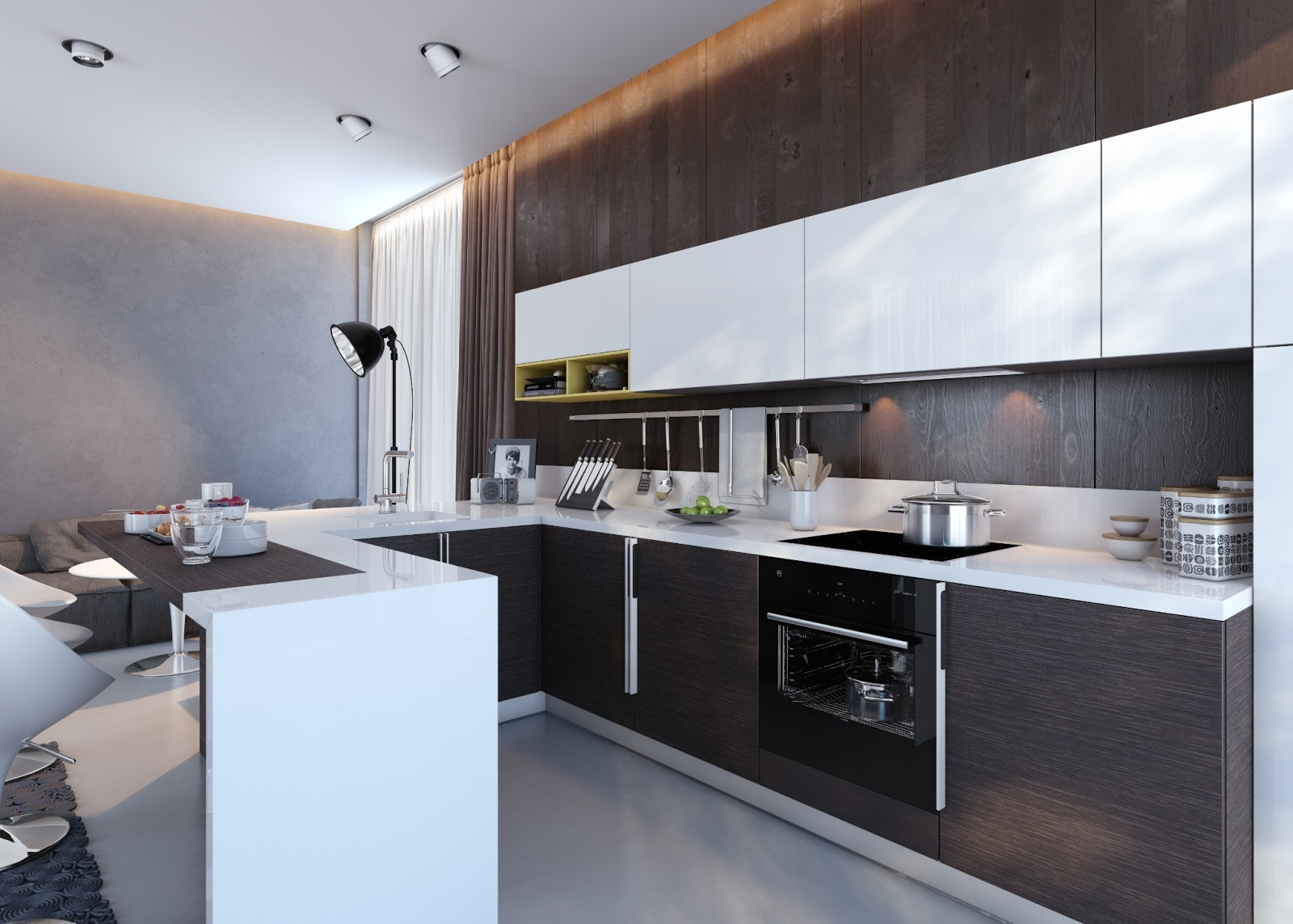 Modern Kitchen Units kitchens with contrast