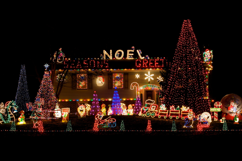 Domestic Christmas Lights - Outdoor christmas decoration