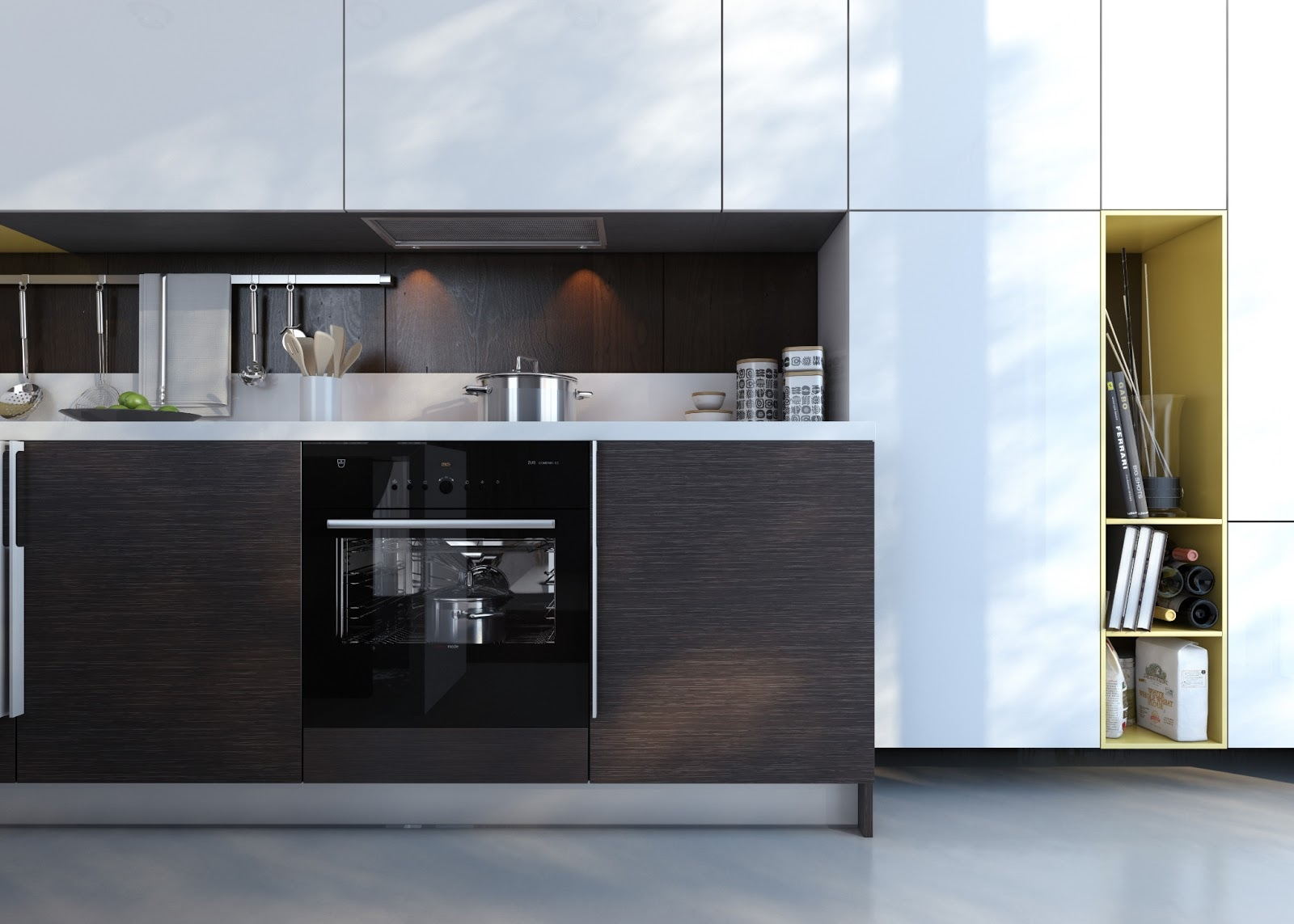 Kitchens with contrast for Kitchen cupboard units