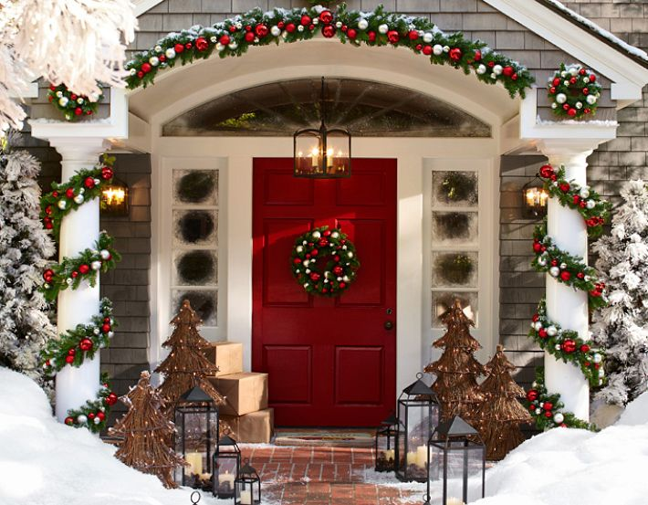 Christmas Doorstep Decorations - Outdoor christmas decoration