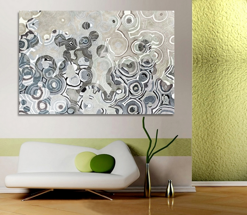 Home decorating with modern art for Art wall decoration