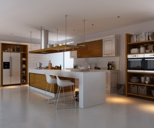 kitchens with contrast - Interior Design For Kitchen