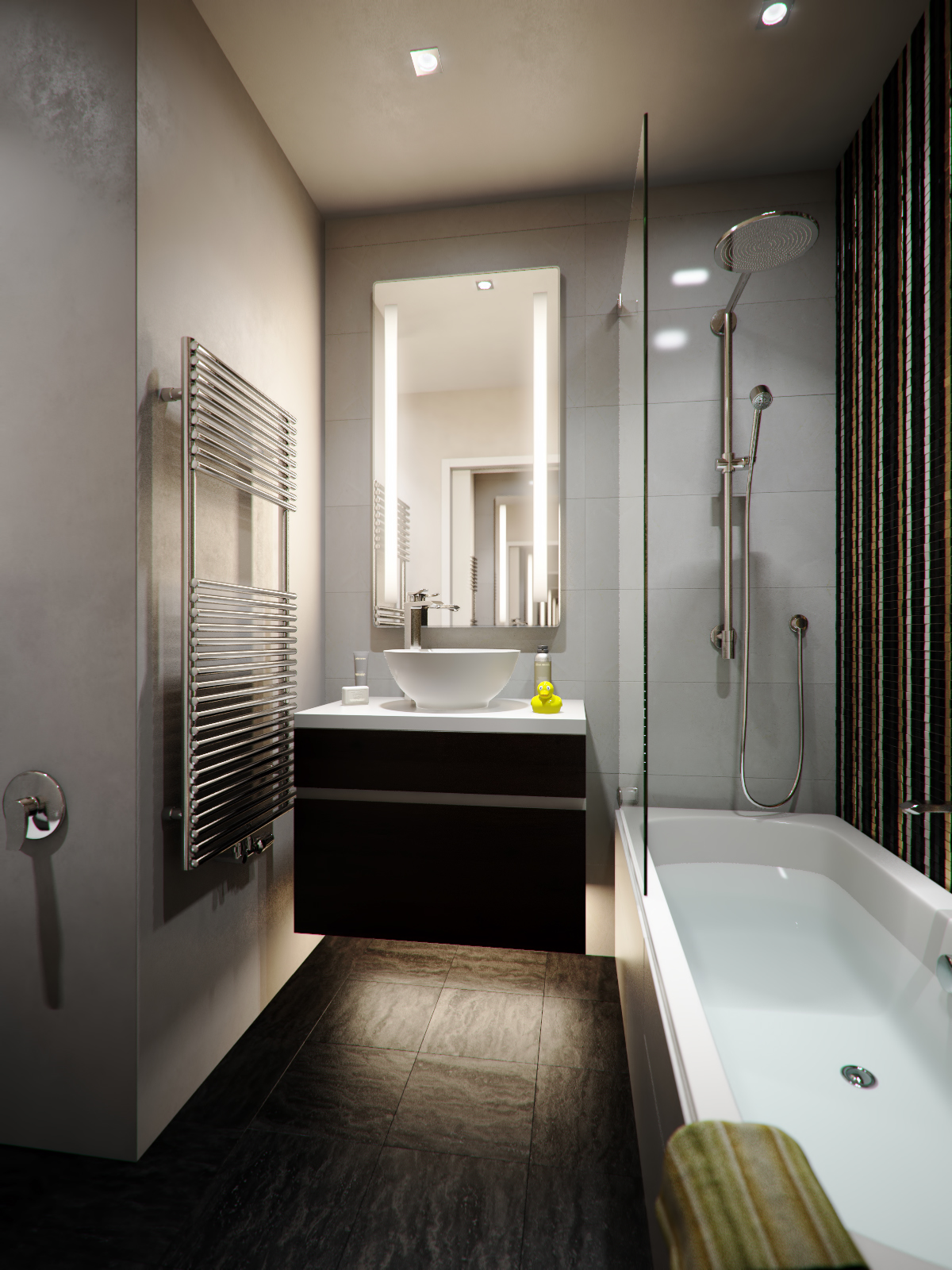 Bathroom designs for apartments - Modern Apartment Bathroom A Small Apartment With Big Dreams