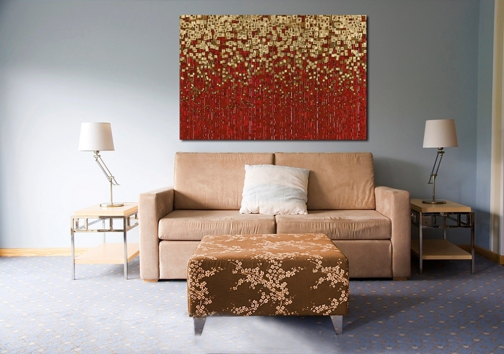 Home decorating with modern art for Red modern decor