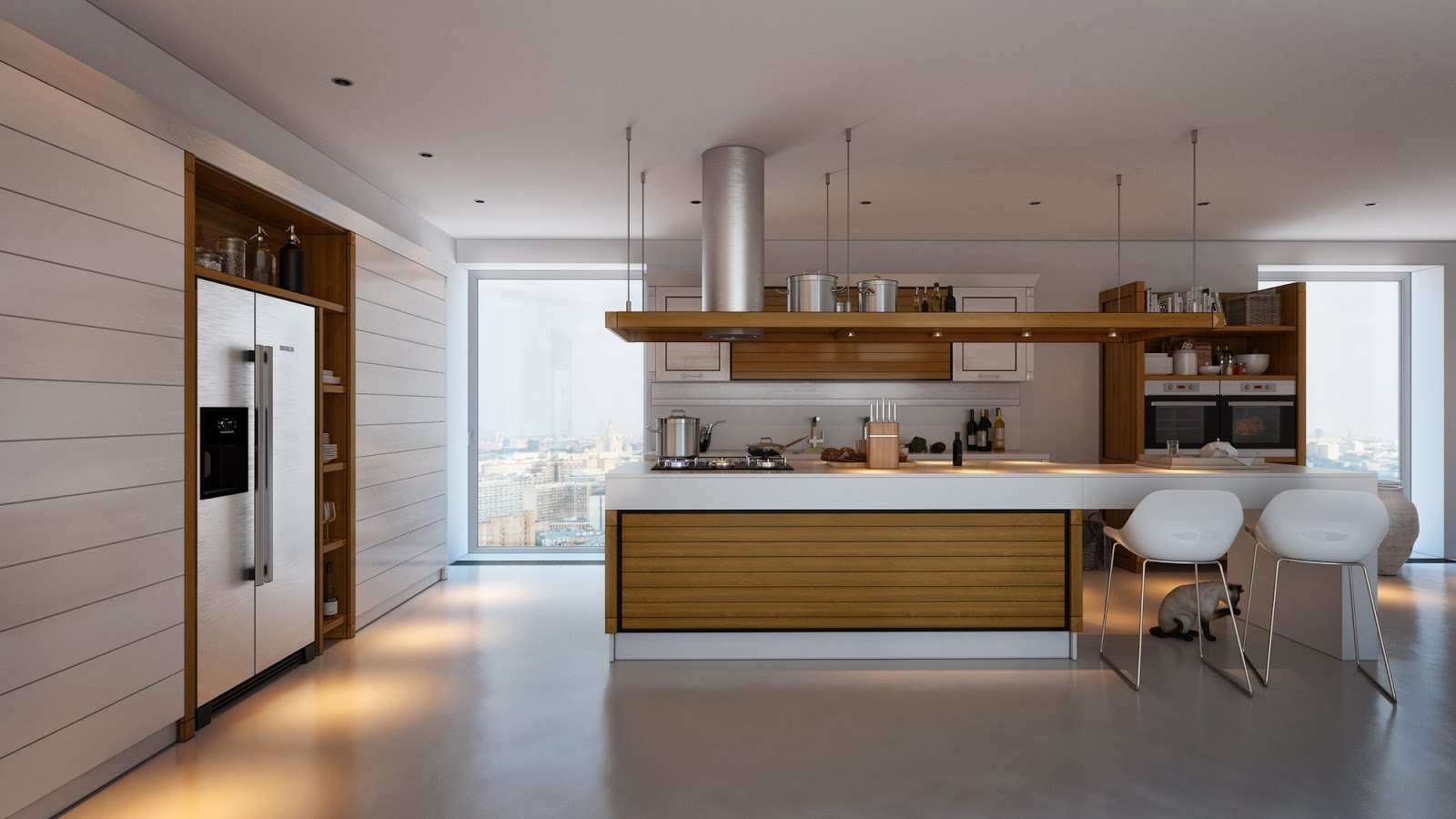 Kitchens with contrast for Muebles design
