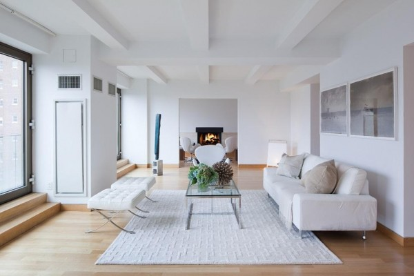 Weighing in at a massive $50,000 per month, this vision in white is a prewar penthouse duplex that has been converted by world renowned London-based architect John Pawson. The minimalistic dwelling is sharp yet understated in its pure décor, providing a moment of calm within the heart of the big city.