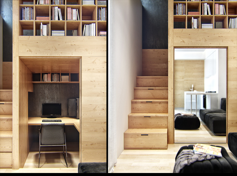 Built in storage ideas interior design ideas for Tiny apartment storage ideas