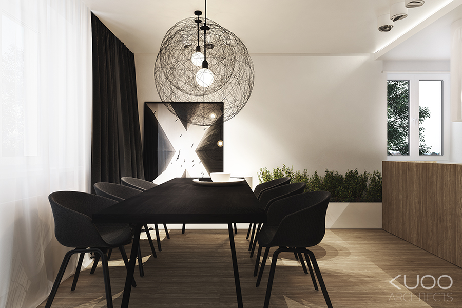 Masculine Dining Room - Bold decor schemes
