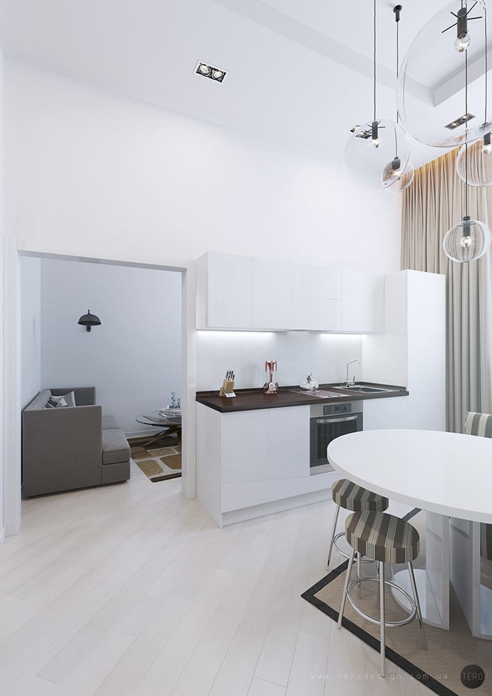 White Kitchen - Small apartments