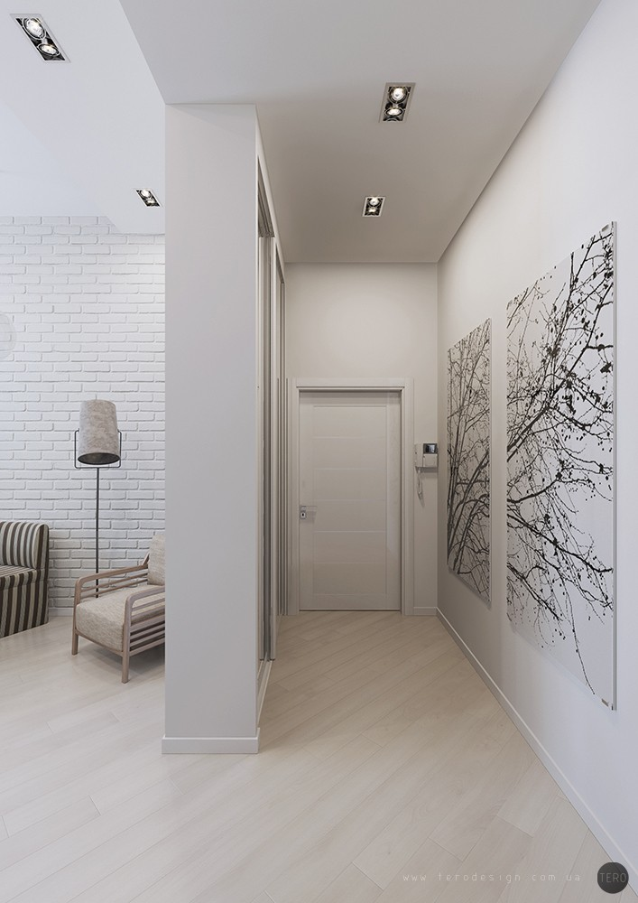 Small apartments for Wall design in hall