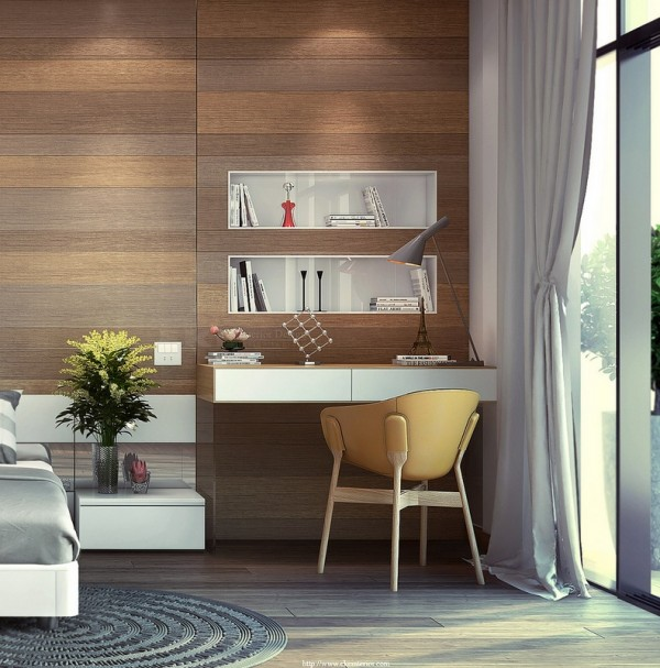 Wooden wall panels add an amazing amount of warmth to any room.