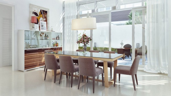 Sophisticated dining room
