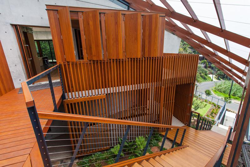 Wood Clad Exterior - The wing house australia