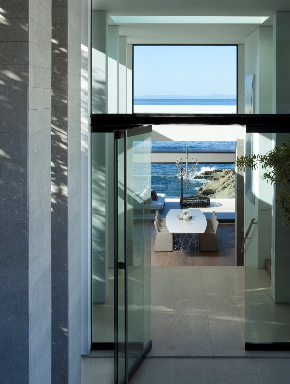 Glazed Doors - Oceanfront house with pool california