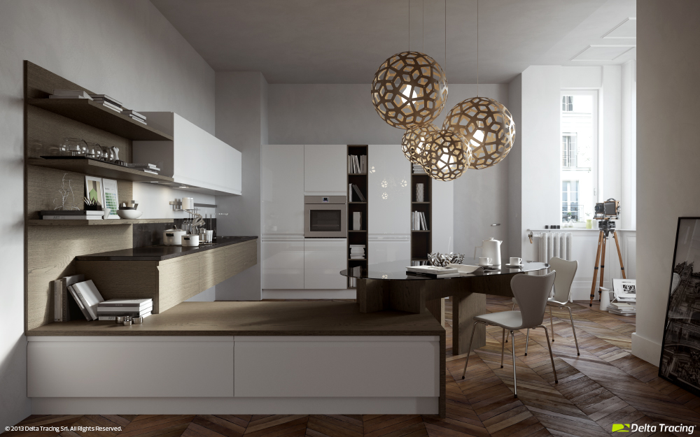 Small Kitchen And Dining - Kitchen layouts and lovely lighting
