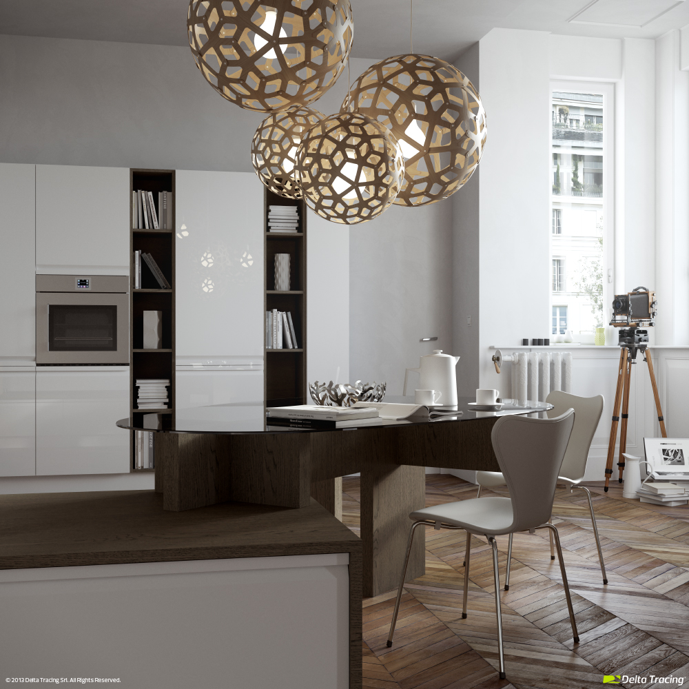Small Kitchens - Kitchen layouts and lovely lighting
